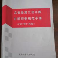 《文安县第三幼儿园内部控制规范手册》